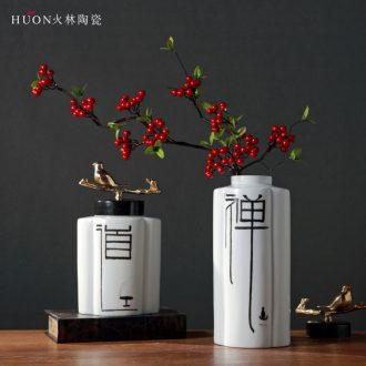 New Chinese style zen ceramic vase household soft adornment example room adornment is placed the sitting room porch modern Chinese style