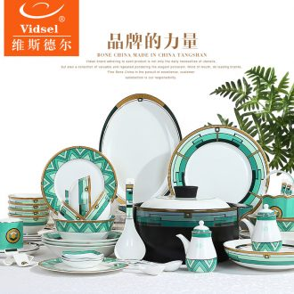Tangshan bone porcelain tableware suit nice dishes dishes suit personality dishes European household creative ceramic bowl