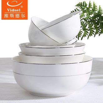 Bone China bulk large rice noodles in soup bowl creative household dish dish dish steak dish plate European ceramic small dishes