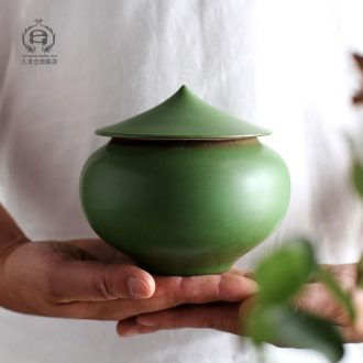 DH coarse pottery handmade caddy general storage POTS store receives jingdezhen ceramics creative green tea pu-erh tea pot