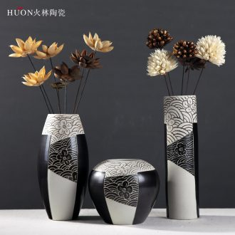 Contemporary and contracted ceramic vases, dried flower flower arranging device furnishing articles Nordic sitting room TV ark of new Chinese style household act the role ofing is tasted