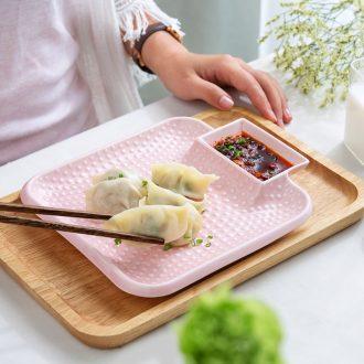 Million jia creative Japanese ceramics with vinegar dumplings plate disc household boiled dumplings dumplings plate cold cold 0