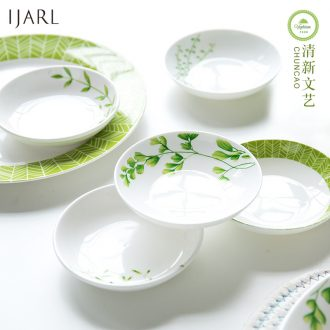 Ijarl million fine ceramic creative round side dish flavor dish home snack plate dessert dish of sauce dish