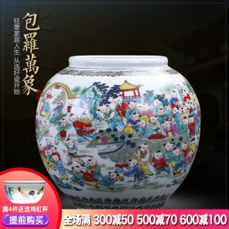 Jingdezhen ceramics the ancient philosophers figure creative archaize large storage tank vases, flower arrangement sitting room adornment is placed