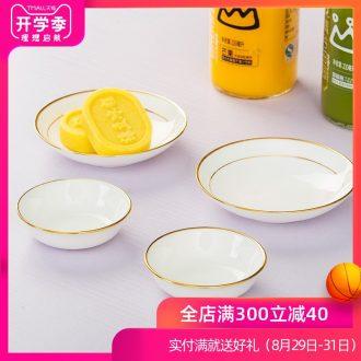 Is rhyme of jingdezhen ceramic bone China paint household utensils, 4 inches flavour dish small sauce dish dish vinegar sauce dish