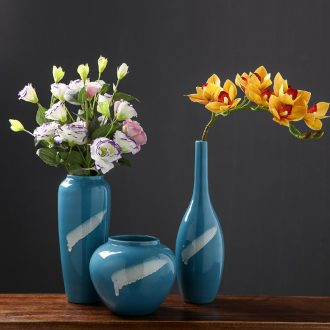 New Chinese jingdezhen ceramic vase modern creative home furnishing articles dried flower arranging flowers contracted sitting room adornment