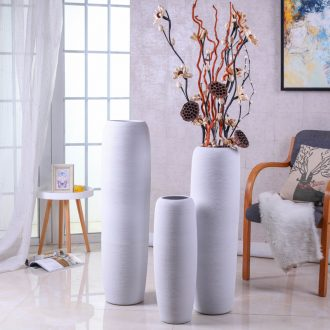 The ground simulation flower vase suit contemporary and contracted sitting room porch large Nordic jingdezhen ceramics flower arranging furnishing articles