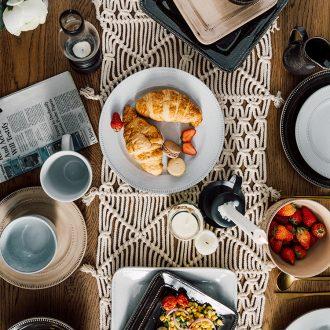 Million jia American retro round ceramic plate large household square western food steak fish dish dish dish dish