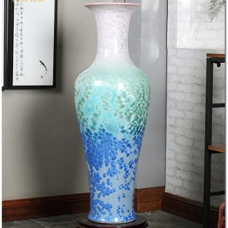 Jingdezhen ceramics vase of large crystalline glaze sitting room place of blue and white porcelain hotel lobby decoration decoration