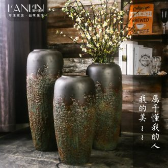 Big vase furnishing articles sitting room ground do old coarse pottery flower arranging bottles home furnishing articles of handicraft ceramic pottery decoration