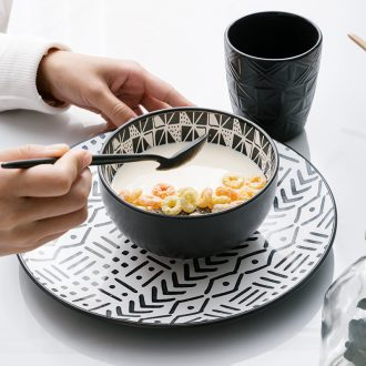 American small ceramic bowl bowl bowl household small lovely breakfast dishes suit one single plate tableware