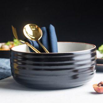 Soup bowl large soup bowl ceramic rainbow noodle bowl Japanese household big bowl Nordic rainbow noodle bowl commercial job tableware to eat noodles