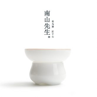 Mr Nan shan sweet white tea filter ceramic filter stroke Japanese kung fu tea tea sets phnom penh fittings of the hook