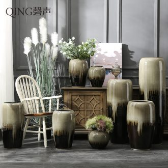 Ceramic furnishing articles sitting room of large vases, flower arranging flower implement hotel villa handmade porcelain home decoration suits
