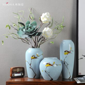 Jingdezhen modern new Chinese TV ark ceramic vase the sitting room porch zen decorative home furnishing articles