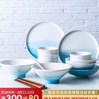 Million fine ceramic tableware suit creative northern wind dishes dishes chopsticks good personality bowl home plate