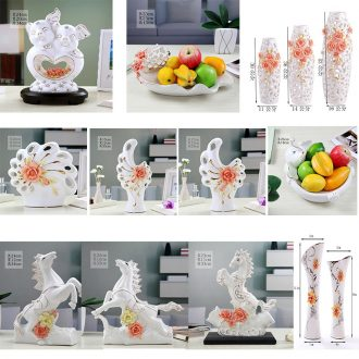 Clear ideas of Europe type TV ark ceramic vase household wine sitting room porch modern furnishing articles dealing with ornament