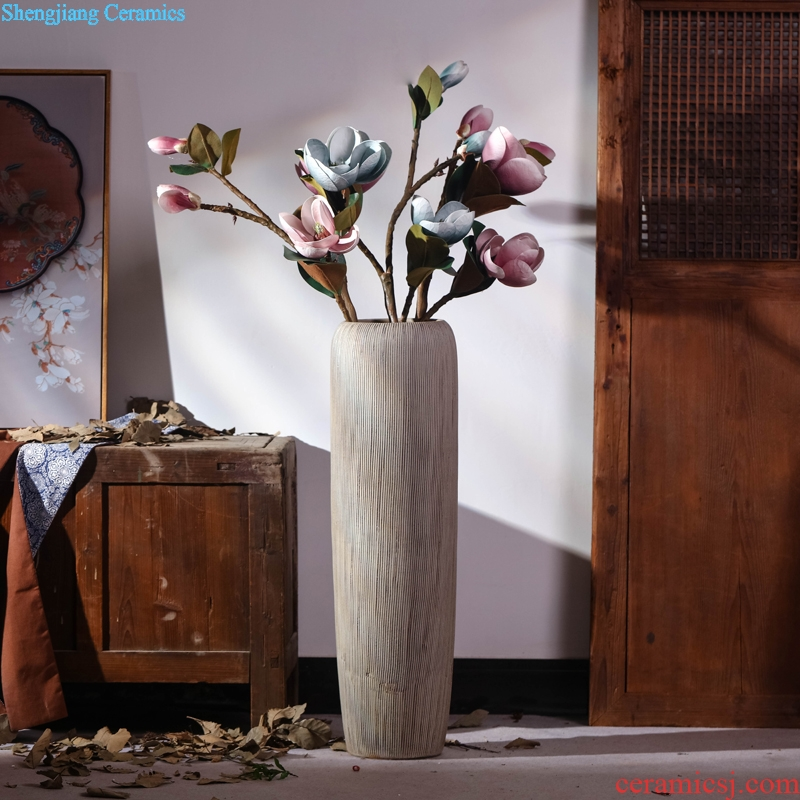 Jingdezhen ceramic vase Chinese style restoring ancient ways is the sitting room porch large landing simulation flower flower arranging dried flowers suit furnishing articles