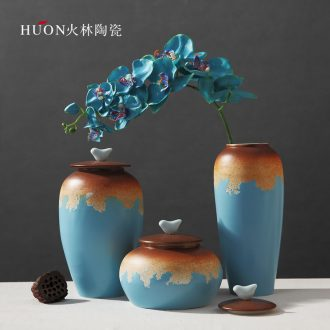 Modern hotel furnishing articles of primitive simplicity is new classic ceramic vase study example room sitting room decoration flower POTS