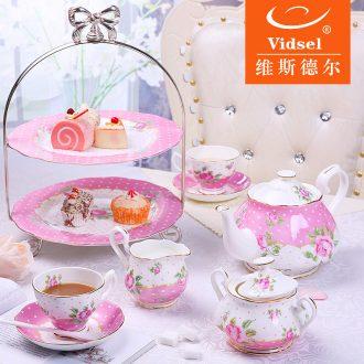 Vdisel coffee cup suit bone China continental tea sets English afternoon tea ceramic coffee set