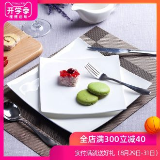 Jingdezhen porcelain tableware of pure bone square beef steak knife and fork dish creative steak western dishes suit