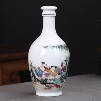Hu jun of jingdezhen private custom ceramic bottle 3 kg jar empty bottle classical hip flask wine bottle