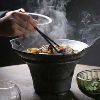 East glory household ceramics alcohol furnace suits casseroles, heat-resistant binaural pot soup pot japanese-style tableware and dry pot restaurant