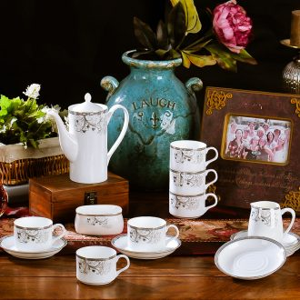 Ceramic coffee cup sets phnom penh European contracted bone porcelain coffee cup tea cups and saucers afternoon tea set