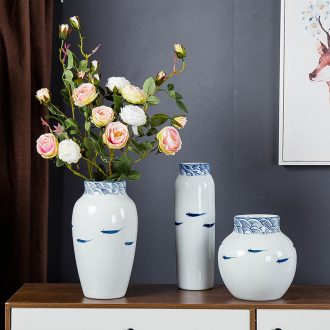Jingdezhen modern household adornment new Chinese TV ark ceramic vase the sitting room porch creative furnishing articles