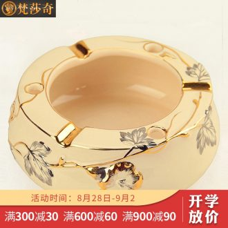 Vatican Sally's creative personality ceramic European custom gift ashtray with cover large ash tray sitting room office