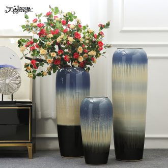Jingdezhen large ground vase furnishing articles sitting room hotel flower arrangement between example covers household adornment ornament