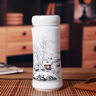 Forest fire creative jingdezhen ceramics keep-warm glass insulation cup double cup gift office cup DongMei