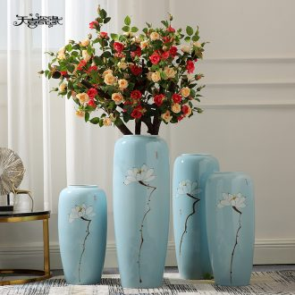 Jingdezhen new Chinese style of large vases, furnishing articles sitting room hotel villa clubhouse decorations ceramics large flowers