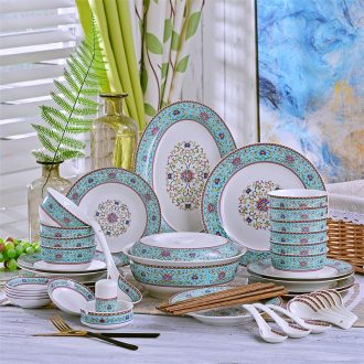 Jingdezhen dishes and cutlery set home to eat noodles in soup bowl of Europe type style bone porcelain ceramic dishes chopsticks combination