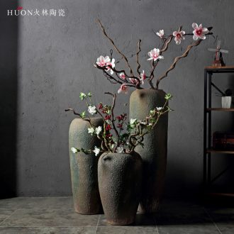Jingdezhen restoring ancient ways of large vase furnishing articles creative ceramic art ceramic household soft adornment dried flowers flower arrangement sitting room