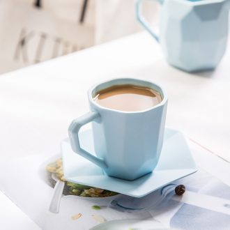 Ijarl million fine hand coffee cups and saucers suit creative Korean contracted afternoon tea glass ceramic cups and saucers