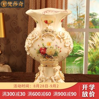 Vatican Sally's European furnishing articles ceramic vases, flower arrangement sitting room adornment large ground dry flower vases, luxury