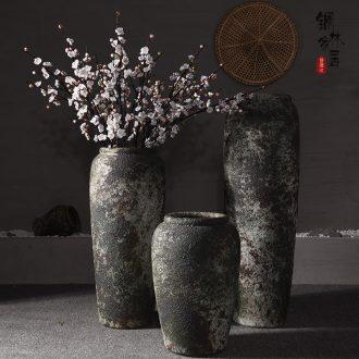 Jingdezhen ceramic sitting room ground to restore ancient ways big vase hotel villa porch flower arranging flower art handmade coarse pottery furnishing articles