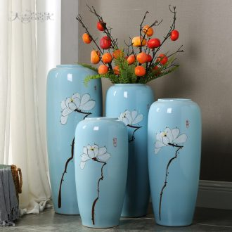 Jingdezhen hand-painted ceramic vase landing modern creative home sitting room TV ark flower arranging, adornment is placed
