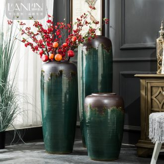 Ceramic vases, flower arrangement sitting room place contemporary and contracted to restore ancient ways the dried ou landing big flowerpot jingdezhen porcelain