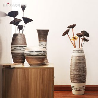 Jingdezhen ceramic vase furnishing articles creative contemporary and contracted sitting room european-style decorative household items dry flower flower arranging flowers