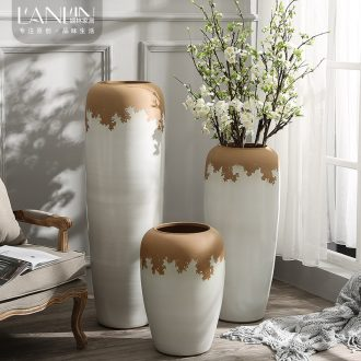 Large vases, contemporary and contracted sitting room to heavy flower arranging flower implement coarse some ceramic pot home decoration ceramic furnishing articles