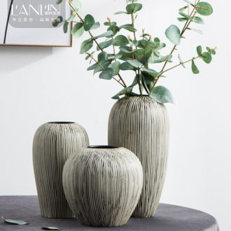 Jingdezhen ceramic vases, TV ark decorations contemporary and contracted sitting room put the dried flower implement desktop home furnishing articles