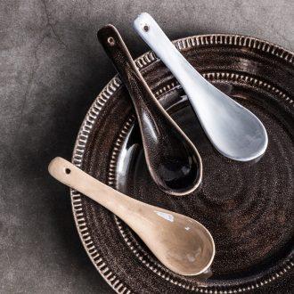 Ijarl million jia household ceramics tableware spoon spoon European spoon contracted dessert porcelain scoop restoring ancient ways
