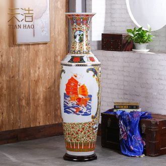 Jingdezhen ceramics of large vase hotel moved into Chinese flower arrangement sitting room adornment is placed
