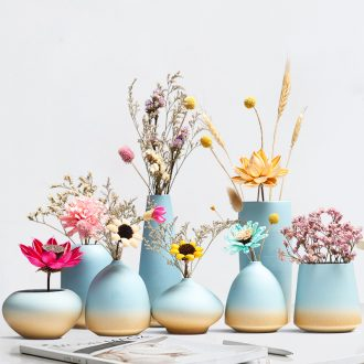 Nordic ceramic floret bottle ins dried flower adornment flower arranging creative household act the role ofing is tasted furnishing articles contracted and pure and fresh the living room