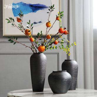 Jingdezhen ceramic vases, new Chinese style table furnishing articles simulation flower arranging dried flowers sitting room TV ark home decoration