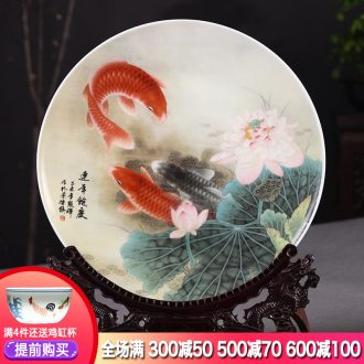 Hang dish of jingdezhen ceramics decoration plate more Chinese style home furnishing articles large sitting room every year