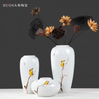 Modern new Chinese style ceramic vase is the sitting room of TV ark wine porch desktop flower arrangement home furnishing articles installed