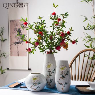 Jingdezhen ceramic hand-painted small flower implement new Chinese vases, flower arrangement home sitting room place the sitting room porch decoration